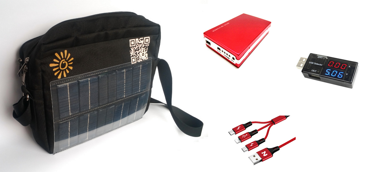 SolarBag - now you can charge your phone anywhere. All you need is the Sun.